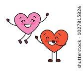 couple happy hearts in love... | Shutterstock .eps vector #1027815826