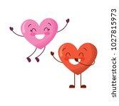 couple happy hearts in love... | Shutterstock .eps vector #1027815973