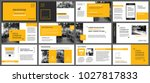 yellow presentation templates... | Shutterstock .eps vector #1027817833