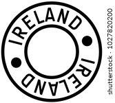 ireland typographic stamp.... | Shutterstock .eps vector #1027820200