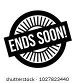 ends soon stamp. typographic... | Shutterstock .eps vector #1027823440