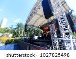 defocused entertainment concert ... | Shutterstock . vector #1027825498