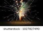 fountain fireworks stream into... | Shutterstock . vector #1027827490