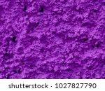 concrete violet plastered wall. ... | Shutterstock . vector #1027827790