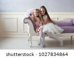 girls  sisters  girlfriends ... | Shutterstock . vector #1027834864