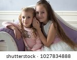 girls  sisters  girlfriends ... | Shutterstock . vector #1027834888