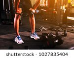 healthy people workout and... | Shutterstock . vector #1027835404