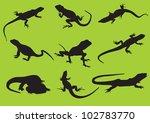 Vector Silhouettes Lizard