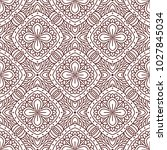seamless pattern with mandala.... | Shutterstock .eps vector #1027845034