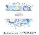vector composition with blue... | Shutterstock .eps vector #1027854439