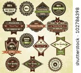 retro labels  vintage vector... | Shutterstock .eps vector #102786398