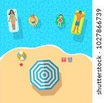 top view vector banner with ...   Shutterstock .eps vector #1027866739