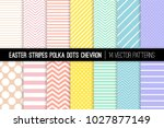 pastel rainbow polka dot ... | Shutterstock .eps vector #1027877149