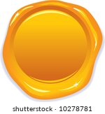 vector wax gold seal   add your ... | Shutterstock .eps vector #10278781