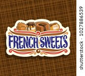 vector logo for french sweets ... | Shutterstock .eps vector #1027886539