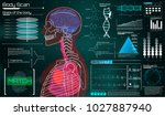 modern medical examination in... | Shutterstock .eps vector #1027887940