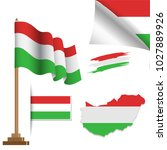 hungary flags special vector... | Shutterstock .eps vector #1027889926