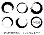 grunge style set of circle...   Shutterstock .eps vector #1027891744