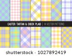 easter pastel color tartan and... | Shutterstock .eps vector #1027892419