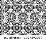 ornament with elements of black ... | Shutterstock . vector #1027893094