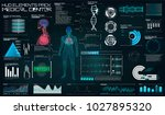 futuristic medical interface ... | Shutterstock .eps vector #1027895320