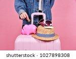money cash saving for travel... | Shutterstock . vector #1027898308