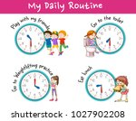 children and different... | Shutterstock .eps vector #1027902208
