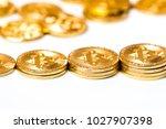 new virtual money crypto... | Shutterstock . vector #1027907398