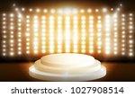 stage and spotlight. vector... | Shutterstock .eps vector #1027908514