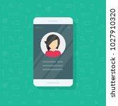 personal info data on mobile... | Shutterstock .eps vector #1027910320