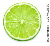 Single Lime Slice Isolated On...