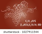 bunch of grapes with leaves and ... | Shutterstock . vector #1027911544