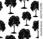 seamless pattern  chestnut tree ... | Shutterstock . vector #1027911598