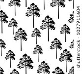 seamless pattern  pine tree ... | Shutterstock . vector #1027911604