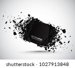 round banner with explosion... | Shutterstock .eps vector #1027913848
