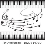 background template with piano... | Shutterstock .eps vector #1027914730