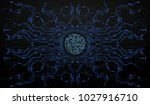 finger scan in futuristic style....   Shutterstock .eps vector #1027916710