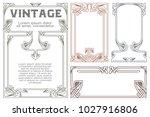 vector vintage labels on... | Shutterstock .eps vector #1027916806