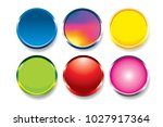 colorful buttons set vector... | Shutterstock .eps vector #1027917364