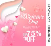 international womens day sale... | Shutterstock .eps vector #1027919269