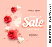 international womens day sale... | Shutterstock .eps vector #1027919284