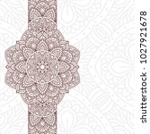invitation card with mandala.... | Shutterstock .eps vector #1027921678