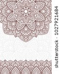 invitation card with mandala.... | Shutterstock .eps vector #1027921684