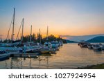 background of sailboat base... | Shutterstock . vector #1027924954