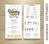 vintage bakery menu design.... | Shutterstock .eps vector #1027926823