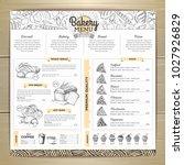 vintage bakery menu design.... | Shutterstock .eps vector #1027926829
