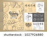 vintage bakery menu design....   Shutterstock .eps vector #1027926880