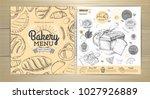 vintage bakery menu design.... | Shutterstock .eps vector #1027926889