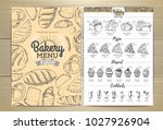 vintage bakery menu design....   Shutterstock .eps vector #1027926904