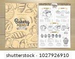 vintage bakery menu design....   Shutterstock .eps vector #1027926910